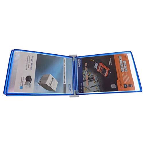 Bxwjg Expositor de Pared A4, Soporte de Archivo Plegable para Carpetas de...