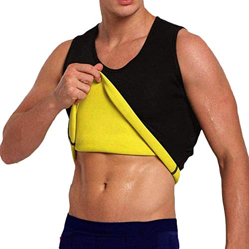 Men's Hot Sweat Body Shaper Tummy Fat Burner Tank Top Slimming Neoprene...