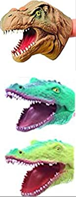 S.S 3 Pack - Soft Rubber Realistic 6 Inch Hand Puppet (Collect All Three Hand Puppets - Dinosaurs & Alligators) by S.S