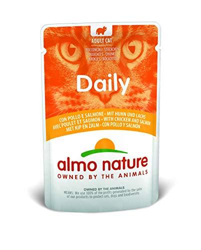 Almo Nature Daily Katzenfutter mit Huhn und Lachs (30 x 70 g)