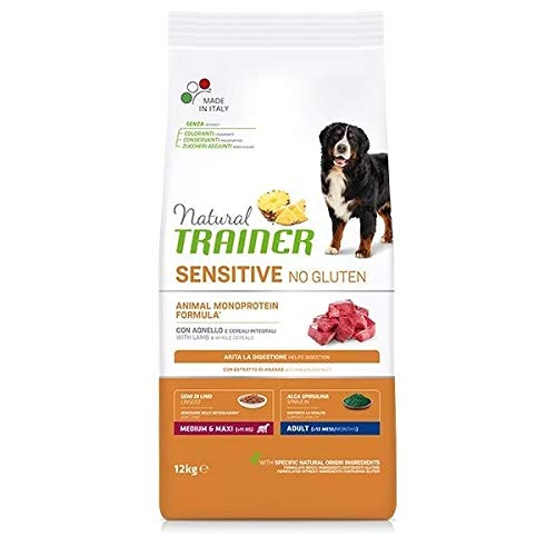Trainer Natural Sensitive No Gluten Medium & Maxi Adult con Agnello 12 kg