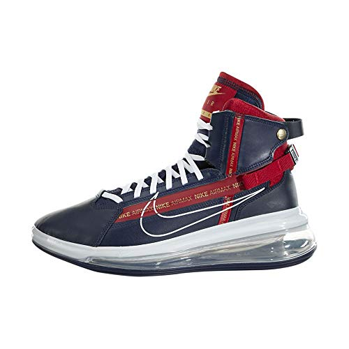 Nike Mens Air Max 720 Satrn Basketball Shoes (11.5, Midnight Navy/White/Gym Red)
