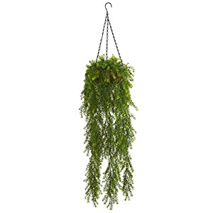 Nearly Natural 3-Ft. Willow Artificial Hanging Basket Silk Plants Green