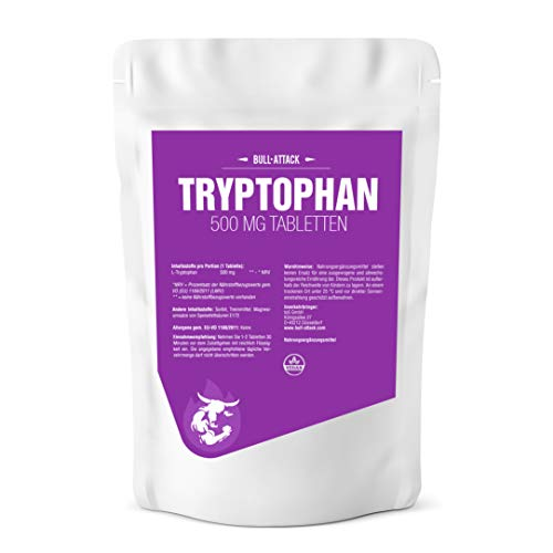 TRYPTOPHAN 500 mg - 125 Vegan Tablets | Natural Supplement for Sleep Disorders | Regeneration & Well-Being (125 Tablets)