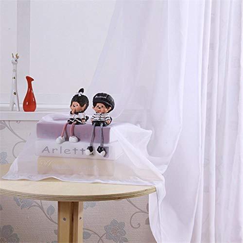 PENVEAT Shading Rate 95-100prozent Blackout Curtain Foam Zurück Thermal Insulated Vorhänge Schall Jalousien für Schlafzimmer Wohnzimmer Vorhang, Weiß Voile, W400xL250cm, Haken
