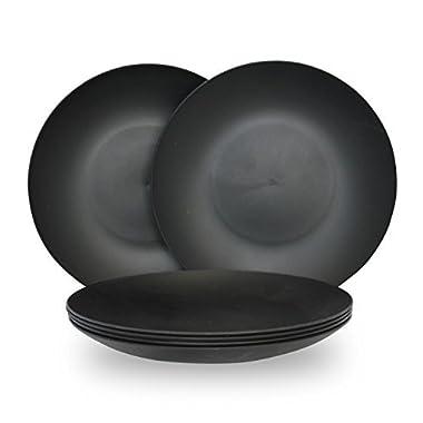 COZA DESIGN 6-Piece Plate Set (Black)