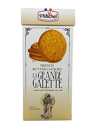 St Michel La Grande Galette French Butter Cookies Biscuits from France 1.3 LB (2 Pack)