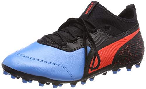 Puma Herren ONE 19.3 MG Fußballschuhe,Blau (Bleu Azur-Red Blast Black), 43 EU