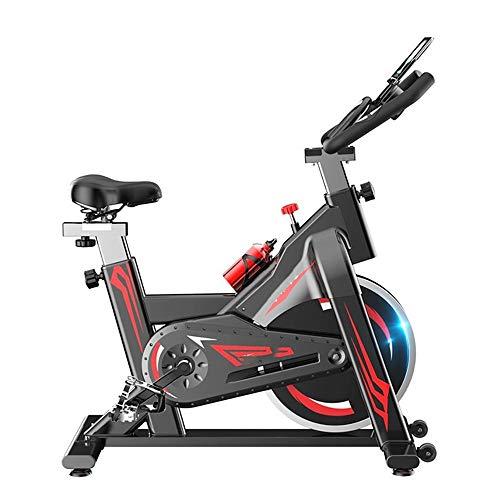 Ergonomische indoor-spinningfiets met verstelbare traagheidsschijf en weerstand, Fitness-trainingsfiets met verstelbaar zadel, hartslagmeter en LCD-scherm