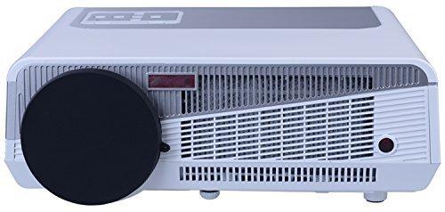 Dayiss® HD LED-Projektor Beamer Heimkino Multimedia (1280x800 Pixel, Kontrast:8000:1,6000 Lumen, HDMI)
