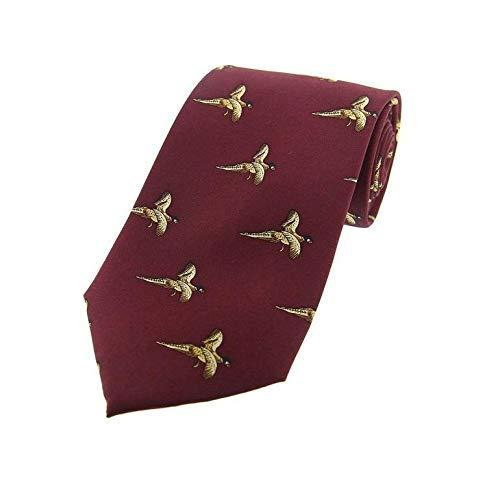 Luxe zijde bordeaux rode vliegende fazanten Land Zijde Tie - land spel schieten.