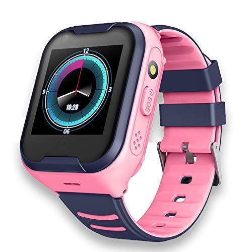 DUANQI GPS Kinder Smart Watch Telefon, Touch Screen Kinder, Smart Watch mit Voice Chat SOS Voice Chat Wecker Geschenk für Kinder Junge Mädchen Student,Rosa