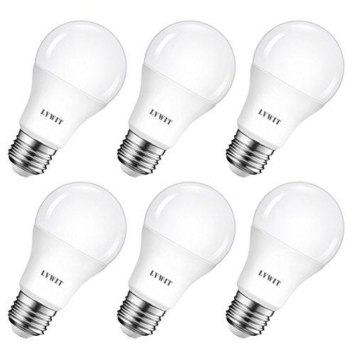 LED E27 Birne 60W Kaltweiß 6500K, ultrahell 806 lm, matte LED Lampe (6er Pack) - LVWIT