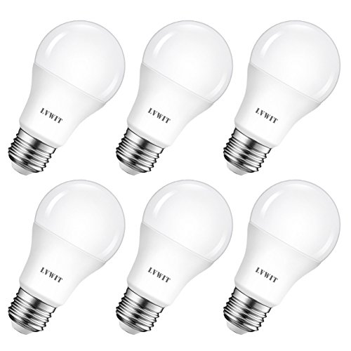 LVWIT Ampoule LED E27 8W, Equivalent à incandescence 60W, 6500K Blanc Froid, 806Lm, Lot de 6, Non-Dimmable