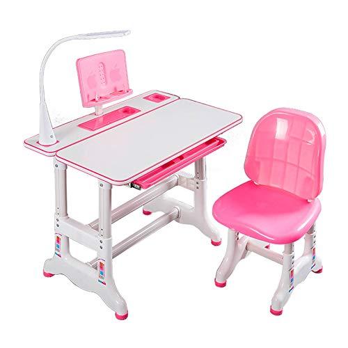 XSN Schreibtisch Einstellbare Hubhöhe, 0~45 ° Einstellbarer Winkel, Mit Ergonomischem Sitz Kinderschreibtisch Arbeitstisch Computer Regal Geeignet Für Verschiedene Szenarien