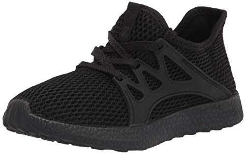 Sunnycree Kids Sneakers Ultra Breathable Mesh Lightweight Athletic Sport Running Tennis Shoes for Boys Girls Black Boys Shoes, 2 Little Kid