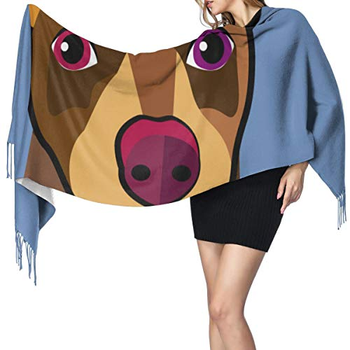 Cara de perro 2 1097 Bufanda de mujer Bufandas de moda Abrigo cálido Mantón Chaqueta Regalo de Navidad para Madre Novia Hermana