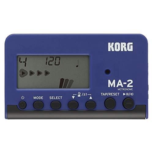 KORG MA-2 LCD Metronomo Digitale Compatto, Blue/Nero