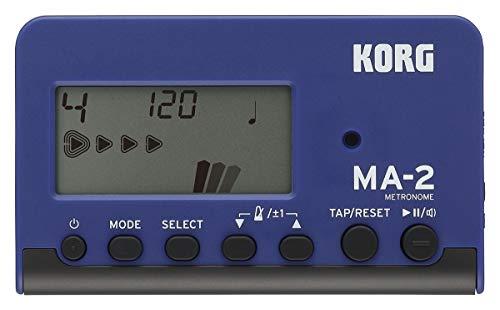 KORG Metronom MA2, digitales Metronom im Nadelanzeige, Metronom mit verschiedenen Beats und Sounds, blau, schwarz