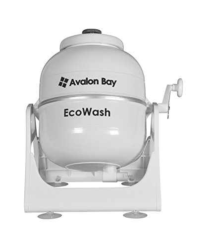 Avalon Bay Ecowash Portable Hand Cranked Manual Clothes Non-Electric Washing Machine, Counter Top...