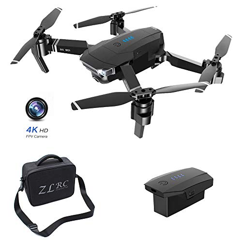 SMUOO HD Camera Drone,4K FPV Real-Time Video Portable Drone,Auto Return Home, Follow Me, Long Control Range, One Button Take Off/Landing,Includes Carrying Bag,Best Gift,1 Battery