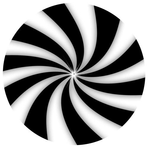 DJ Record Turntable Slipmats BLACK AND WHITE FAN - ILLUSION SLIPMAT x 1...