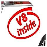 V8 inside 11 x 10 cm IN 15 FARBEN - Neon + Chrom! Sticker Aufkleber
