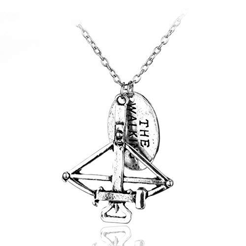 Halskette Schmuck Halskette Armbrust Pfeil und Bogen Anhänger Zombie Fight The Dead Fear Die lebende Halskette