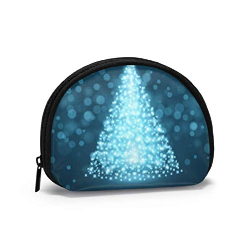 Women Coin Pouch Elegant Christmas Tree Icon Symbol Womens Coin Purse Womens Change Pouch with Zipper Mini Cosmetic Makeup Bags for Women Girls Party Gifts and Decorations