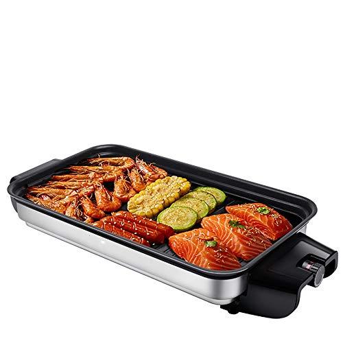 LDH Elektrogrill Haushalt Grill Grill Smokeless Barbecue Teller Teller Antihaft Barbecue Grill Barbecue-Maschine Teppanyaki-Platte (Size : A)