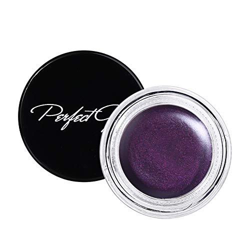 Qianren Gel Eyeliner Coloré Longue Durée Imperméable, Mat Eye Liner Gel Crème Noir Marron Violet Yeux Maquillage Cosmétiques