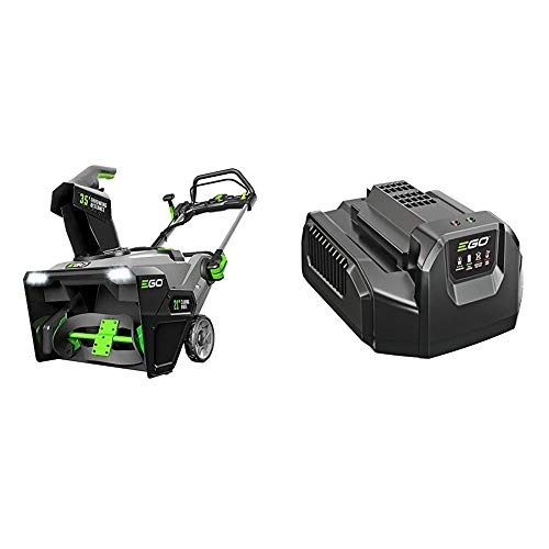 EGO Power+ SNT2102 21-Inch 56-Volt Cordless Snow Blower with Peak Power Two 5.0Ah Batteries and Charger Included & Power+ CH2100 56-Volt Lithium-ion Standard Charger