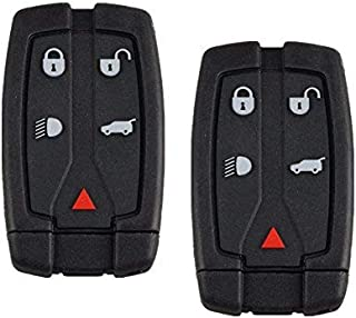 Dudely Replacement Key Fob Shell for Land Rover Freelander 2 Remote Key+ Uncut Key - (2 Pack)