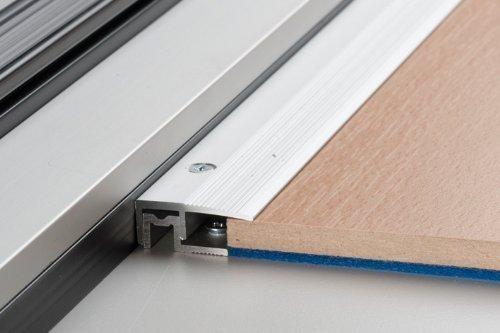 PS 400 Abschlussprofil PEP 100cm silber