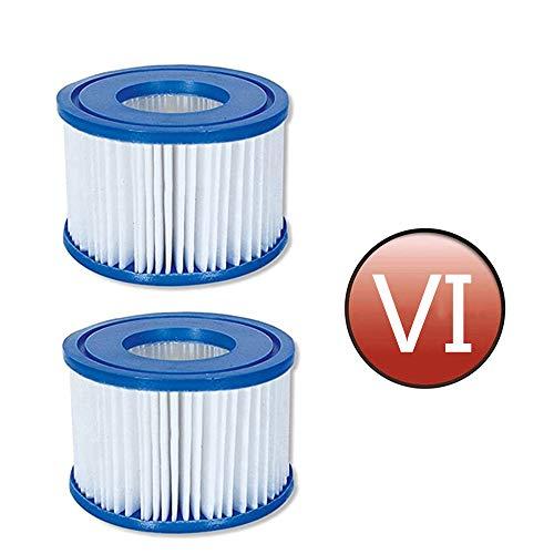 SK-LBB VI Antimikrobielle Filterkartuschen für Lay-Z-Spa Miami, Vegas, Palm Springs, Monaco. (2 Stück)