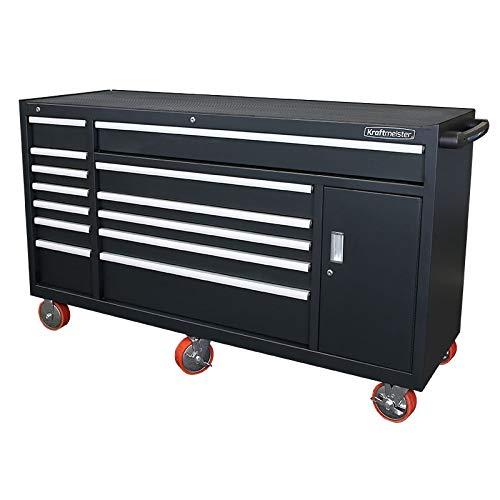 Kraftmeister industrielle Werkzeugwagen mit 13 Schubladen - schwarz
