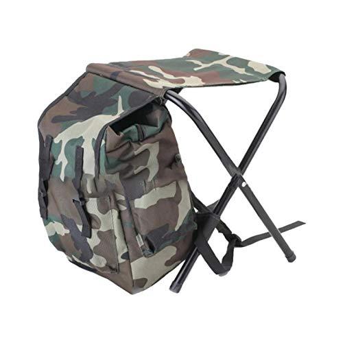Silla de camping portátil ultraligero plegable Mochila El calor que acampa plegable de pesca taburete silla portátil Mochila nevera portátil bolsa de picnic Senderismo asiento de mesa bolsa