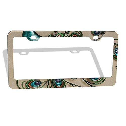 License Plate Frame I Love Plymouth Zinc Weatherproof Car Accessories Chrome