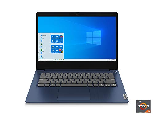 Lenovo IdeaPad 3 14' Laptop, 14.0' FHD 1920 x 1080 Display, AMD Ryzen 5 3500U Processor, 8GB DDR4 RAM, 256GB SSD, AMD Radeon Vega 8 Graphics, Narrow Bezel, Windows 10, 81W0003QUS, Abyss Blue