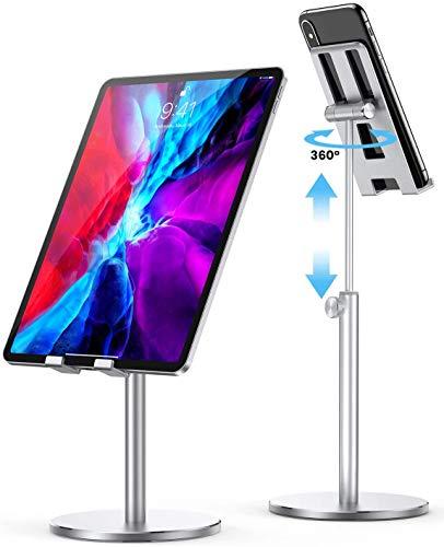LISEN Tablet Ständer, Tablet/Handy ständer Stabiler Ganzmetall ipad Stand Verstellbare Universal Tablet Halter Dock für Alle 4-13 Zoll Tablet/iPad pro/iPhone/Huawei/Galaxy/Pixel