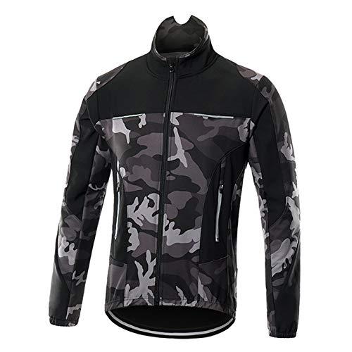 1Invierno Chaqueta Ciclismo Hombre Polar Térmico, Jacket de Bici...