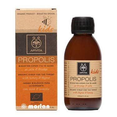APIVITA PROPOLIS Kids Organic Syrup fot the Throat with honey & thyme 150ml