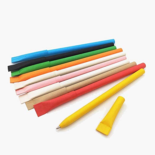 Eco-Friendly Pens Environmental Protection Paper Material Medium Point...
