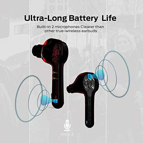 Monster Wireless Earbuds, Bluetooth 5.0 in-Ear Headphones with Charging Box, subwoofer with TWS Stereo Headphones, Built-in Microphone, Clear Calls, Suitable for Sports