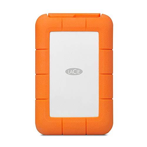 LaCie Rugged RAID Pro, tragbare externe Festplatte 4 TB, 2.5 Zoll, RAID USB-C, Card Reader, PC & Mac, inkl. 3 Jahre Rescue Service, Modellnr.: STGW4000800