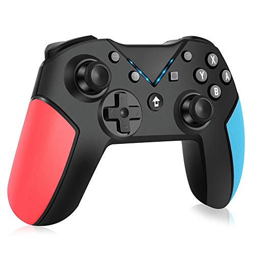 Switch Controller, OCDAY Wireless Controller Bluetooth Switch Pro Controller, Pro Remote Game Switch Gamepad mit einstellbarer Turbo Dual Shock Gyro-Achse