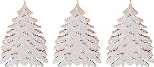 Zusätzliche Bäume mit Schnee, Set von drei–5,5x 5cm/2.2x 2inch–Echte Deutsch Erzgebirge Kerze Arches–Tietze