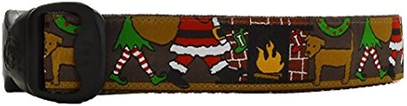 3 Dirty Dawgz Exclusive Adjustable Christmas Eve at The Cabin Dog Collars for Medium Large and X-Large Dogs