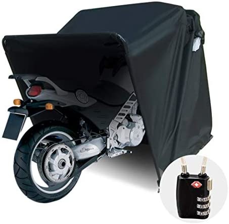 Quictent 106 x 41 Motorcycle Storage Heavy Duty Motorcycle Shelter Shed Cover Garage Tent with product image