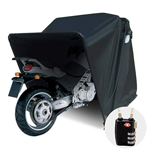 Quictent Heavy Duty Motorcycle Shelter Shed Tourer Cover Storage Garage Tent with TSA Code Lock & Carry Bag, Small Size